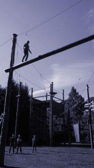 hochseilgarten eifel balance beam
