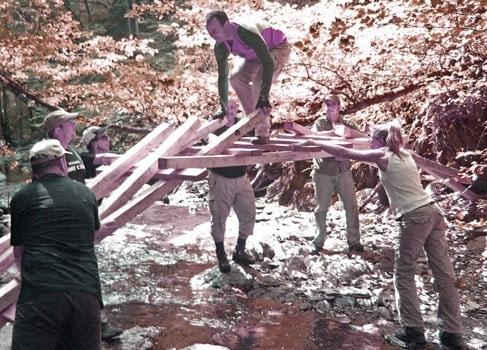 teambuilding outdoor brückenbau