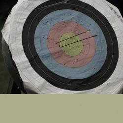 Zielscheibe Bogenschießen