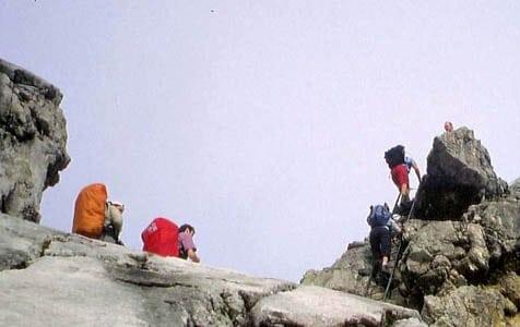 alpine expedition auf Grat