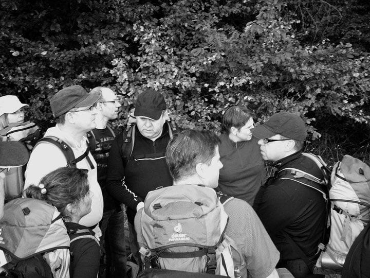 Führungskräfte challenge walk gruppe