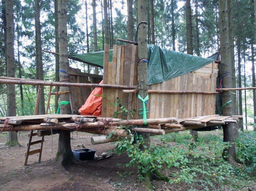 baumhaus bauen teambuilding